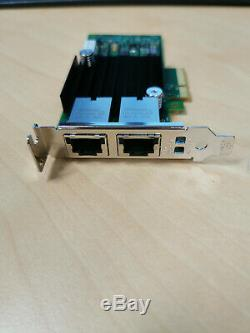 10G base T Intel Ethernet Converged Network Adapter X550-t2 Dell PN 0WWN0