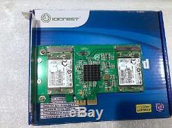 1.5TB (3 x 512Gb) IOCREST Quad mSATA PCIe SSD Adapter Card MAC PC