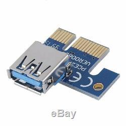 20PCS Mini PCI-E Express USB 3.0 1x to 16x Graphics Riser Extender Card Adapter