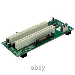 20XPCI Express to Dual PCI Adapter Card PCIe X1 to Router Tow 2 PCI Slot R D6Z4