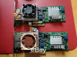 2 x Intel X520-T2 Dual Port 10GbE PCIe Ethernet Network Adapter Cards