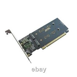 3.0 x16 to 4Port M. 2 NVME SSD Adapter Raid Card VROC Riser Card Support 2230