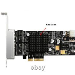 4 Port Intel I350 RJ45 POE Network Card PCIe 4X Network Adapter 10/100/1000Mbps