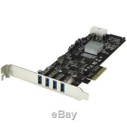4 Port PCI Express (PCIe) SuperSpeed USB 3.0 Card Adapter with 4 Dedicated 5Gbp