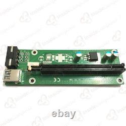 500 pcs PCI-E 1x to 16x Powered USB3.0 GPU Riser Extender Adapter Card ETH ERC20