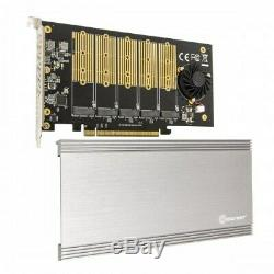 5 Slot M. 2 B-key SATA Controller PCIe 3.0 x16 Adapter Card with Cooling Fan