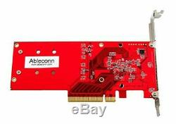 Ableconn PEXM2-130 Dual PCIe NVMe M. 2 SSDs Carrier Adapter Card PCI Express