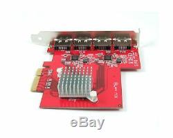 Ableconn PEX SA134 4x eSATA III w 4x PM ASM1062 Four Lanes Host Adapter Card New
