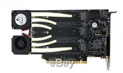 Amfeltec 6-Slot PCIe M. 2 SSD Hexa Slot Adapter Card RAID for Mac Pro Brand New