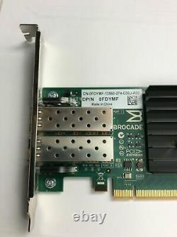 Dell Brocade 1020 10GB 2-Port PCI-E 2.0 X8 Converged Network Adapter Card FDYMF