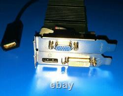 Dell OptiPlex 7010 7020 990 9010 9020 SFF 1GB Video Card + HDMI Adapter PCIe x1