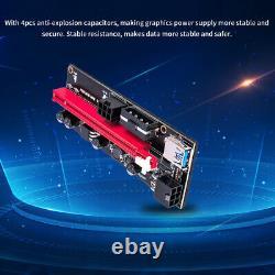 Ethereum PCI-E 1x to 16x Powered USB3.0 GPU Riser Extender Adapter Card VER009s