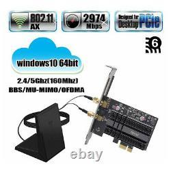 Fenvi PCIe Network Card WiFi 6 MU-MIMO OFDMA AX200 802.11ax Wireless Adapter