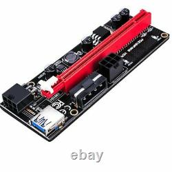 GPU Card PCIE Riser VER 009S 1x to 16x USB Riser Adapter Card USB 3.0 Mining NEW