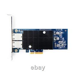 Intel X550-T2 10Gb Ethernet Network Adapter 2x Copper RJ45 Port PCIE X4 NIC Card