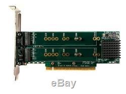 NEW 4 Slot PCIe M. 2 SSD Amfeltec Quad Slot Adapter Card RAID for Mac Pro NEU