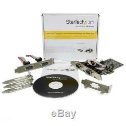 NEW! StarTech. Com 4 Port Native PCI Express RS232 Serial Adapter Card