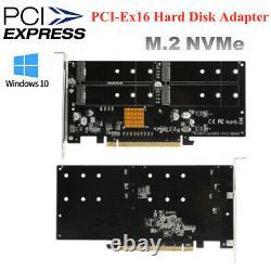 PCI-E Express X16 Network Adapter 4 X M. 2 NVMe Hard Disk Array Accelerator Card