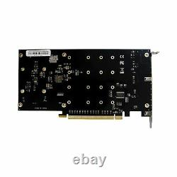 PCIe 3.0 X16 PLX8747 to 4 Port M. 2 NVMe SSD Adapter Expansion Card Mkey Nvme