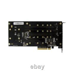 PCIe 3.0 X4 PLX8724 to 4 Port M. 2 NVMe SSD Adapter Expansion Card Quad Mkey Nvme