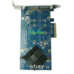 PCIe M. 2 Adapter PCI Express to 4 Ports NGFF M. 2 RAID Card HyperDuo Mode