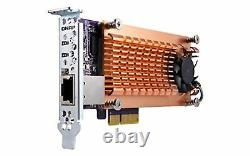 QNAP QM2-2S10G1TA 2-Slot PCIe Network Expansion Card for M. 2 SATA SSDs with 1