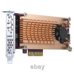 QNAP QM2 interface cards/adapter M. 2 Internal QM2-2P-344 PCIe, 2 x M. 2, NVMe