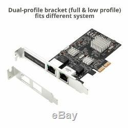SIIG Dual 2.5G 4-Speed Multi-Gigabit Ethernet PCIe Adapter Card (LB-GE0711-S1)