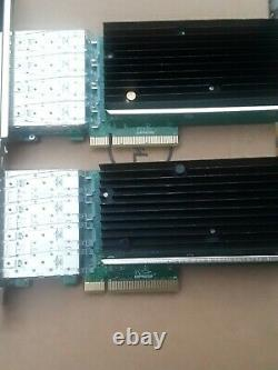 SILICOM QUAD PORT SFP+ 10 GIGABIT PCIe ADAPTER x 2 card
