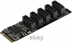 Sedna M2 (2280) PCIe M Key to 5 x SATA 6G Adapter Card Support. From Japan