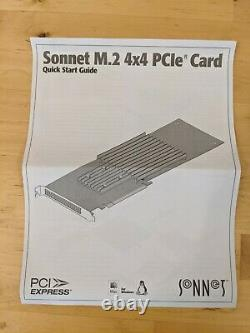 Sonnet Fusion SSD M. 2 4x4 PCIe Card