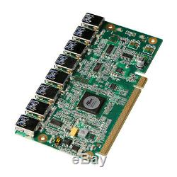 Speed bridge PCIe turn 8x USB3.0 mining adapter PCI-E to 8 USB3.0 expansion card