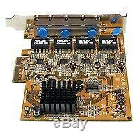 StarTech 4 Port PCIe Gigabit Network Adapter Card