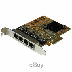 StarTech. Com 4-Port PCI Express Gigabit Network Adapter Card Quad-Port PCIe
