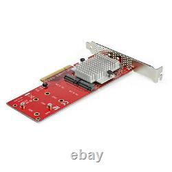 StarTech. Com Dual M. 2 PCIe SSD Adapter Card x8 / x16 Dual NVMe or AHCI M. 2 SSD