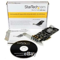 StarTech. Com PEXUSB3S44V 4 Port PCIe SuperSpeed USB 3.0 Card Adapter