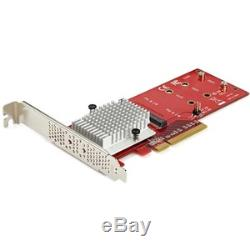 StarTech Dual M. 2 PCIe 3.0 SSD Adapter Card PEX8M2E2
