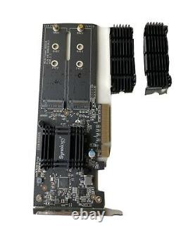 Synology M2D18 Storage Bay Adapter Expansion Slot to 2 x M. 2 M. 2 Card PCIe