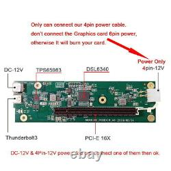 Type-C Thunderbolt 3 to PCI Express PCI-E 16x Graphics Card SSD Nvme NGFF Card