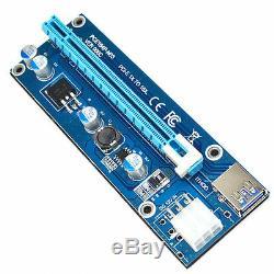 100pcs Usb3.0 Adaptateur De Carte D'extension Render 1x À 16x Câble D'alimentation Pci-e Express