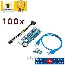 100x Ethereum Pci-e 1x To 16x Powered Usb3.0 Gpu Riser Extender Adaptateur Card