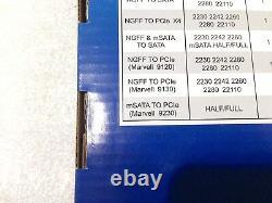1.5tb (3 X 512gb) Iocrest Quad Msata Pcie Carte D'adaptateur Ssd Pc Mac