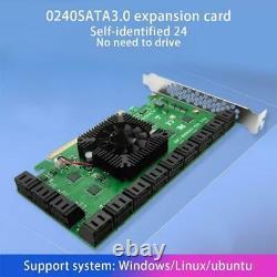 24 Ports Pci-e À Sata3.0 Carte D'extension Pci Express X16 Adaptateur 6 Go Interface