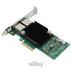 2 Ports Réseau Gigabit Carte Adaptateur 10gbps Pci-e 3.0 X8 Ethernet Lan Carte Réseau 10gbe