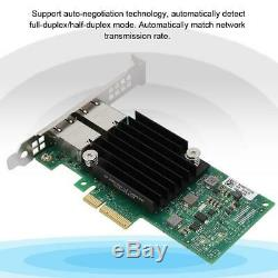 2 Ports Rj45 10gbe X550-t2 Pci-e X8 Ethernet Convergé Adaptateur Lan Carte Réseau