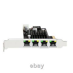4 Port Intel I350 Rj45 Poe Carte Réseau Adaptateur Réseau Pcie 4x 10/100/1000mbps