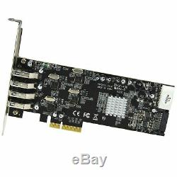 4 Ports Pci Express (pcie) Superspeed carte Adaptateur Usb 3.0 Avec 4 C Dédié 5gbps