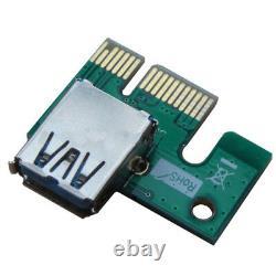 500 Pcs Pci-e 1x À 16x Powered Usb3.0 Gpu Riser Extender Adaptateur Card Eth Erc20
