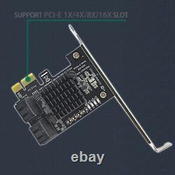 5xpci-e Gen3 À Sata3.0 Expansion De La Carte 4-port 6g Expansion De La Carte D'adaptateur Ipfs