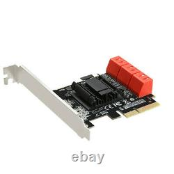 6 Ports SATA 3.0 À Pcie Carte D'extension Pci Express 4x Gen 3 Pci Express Adaptateur